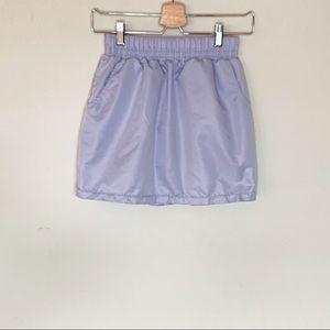 American Apparel Periwinkle Mini Skirt - Small